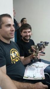 Matias y Sergio en la entrega de premios.
