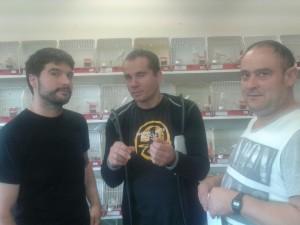 Sergio, Matias y David comentando las puntuaciones
